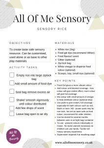 Sensory Rice