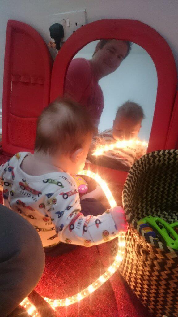 dad baby mirror light